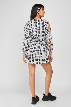 Scattered Print Tunic Dress