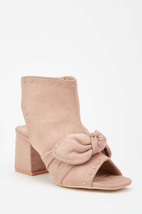 LOST INK Macy Open Toe Ankle Boot