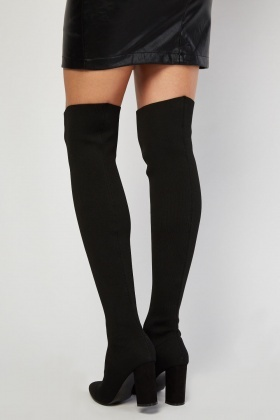 LOST INK Sydney Knit Sock OTK Boot