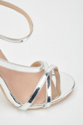 LOST INK Asym Strap Heeled Sandal