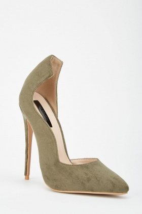 LOST INK Coco High Counter Cut Court Shoe
