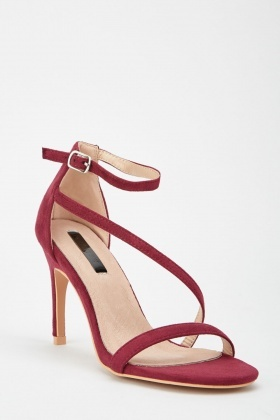 LOST INK Libby Strappy Mid Heel Sandal