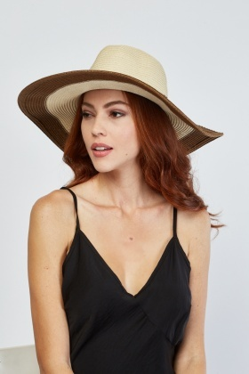 Jacquard Roman Coin Trim Straw Hat