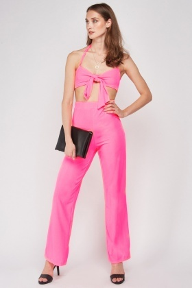 Ribbed Bralet And Trousers Set