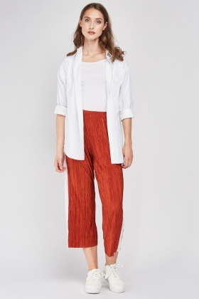 Stripe Side Plisse Trousers