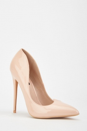 LOST INK Nude Penny V Point Court Shoe