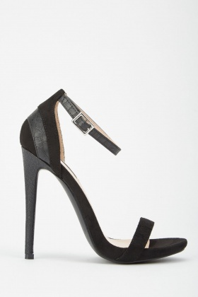 LOST INK Rae Stiletto Barely There Heeled Sandals