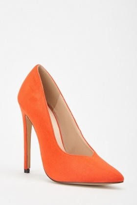 LOST INK Red Chase High Vamp Court Shoe