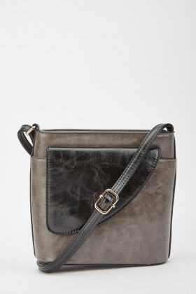 Textured Metallic Contrast Bag