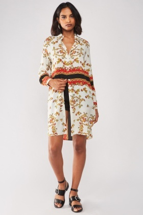 Renaissance Print Long Shirt
