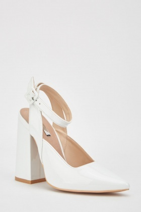 Lost Ink Grace Flared Ankle Strap Courts