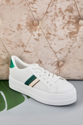Perforated Colour Block Trainers