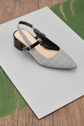 Textured Slingback Shoes