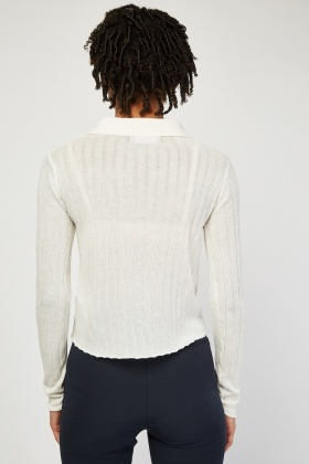 Long Sleeve Ribbed Knit Top