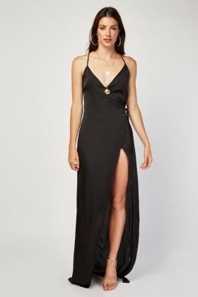 Sateen Maxi Slip Dress