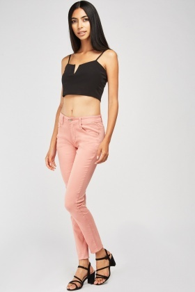 Low Rise Skinny Fitted Jeans