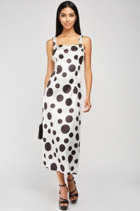 Polka Dot Midi Strappy Dress