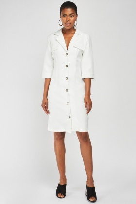 3/4 Sleeve Blazer Dress