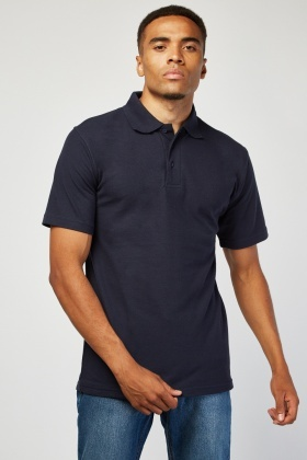 Pack Of 3 Navy Polo-Shirts