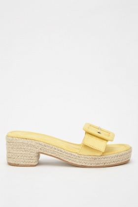 Buckle Strap Espadrille Sandals