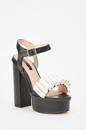 Lost Ink Beau Ruffle Platform Sandals