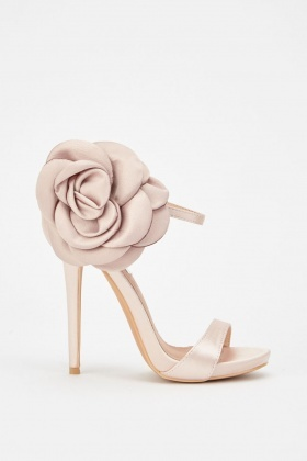 Lost Ink Belle Oversized Flower Heeled Sandals