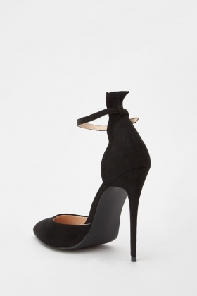 Lost Ink Jules Ankle Strap Court Shoes