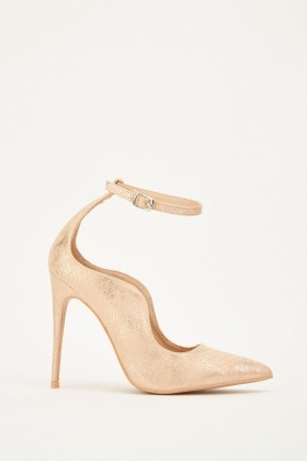 Lost Ink Palm Curved Ankle Strap Courts