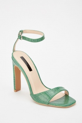 LOST INK Reese Square Toe Asym Heeled Sandals