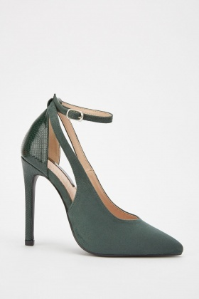 LOST INK Thorn Cutout Court Heels