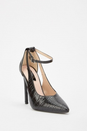 Lost Ink Thorn Cutout Court Shoes