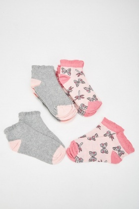 12 Pairs Of Printed Womens Socks