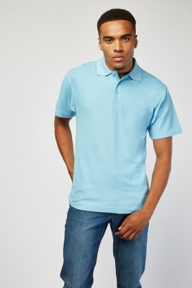 Pack Of 3 Sky Blue Polo Shirts