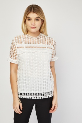 Laser Cut Crochet Top