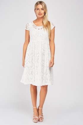 Round Neck Frilly Lace Dress