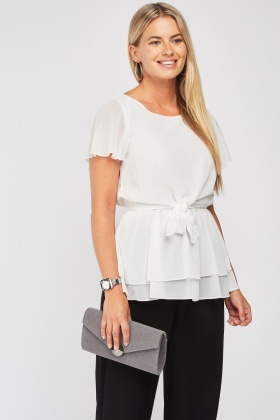 Tie Up Chiffon Blouse