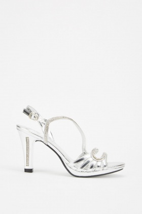 Encrusted Metallic Strap Sandals £5.00