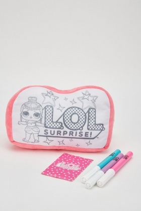 Lol Suprise Doodle Pillow Kit Set
