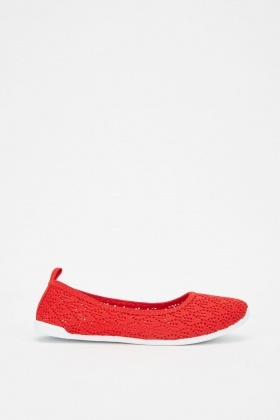 Perforated Slip On Pumps