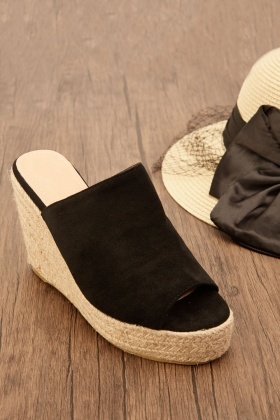 Suedette Wedge Mule Shoes £5.00