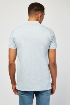 Speckled Short Sleeve Polo Shirt