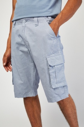 Casual Long Line Cargo Shorts