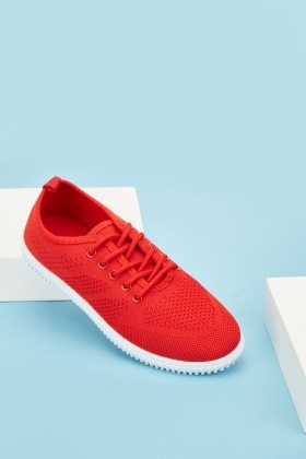 Low Top Knit Plimsolls