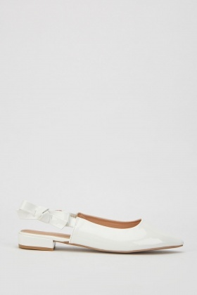 Lurex Bow Strap Block Heels