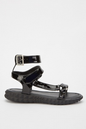 Lurex Strappy Sandals