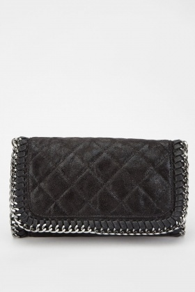 Metallic Quilted Chained Bag