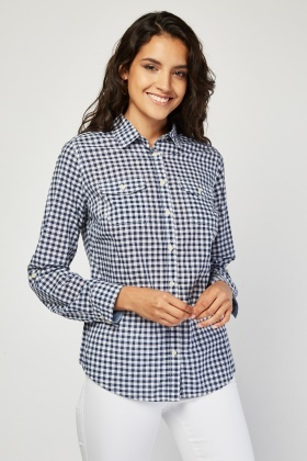Gingham Twin Pocket Shirt