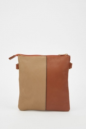 2 Tone Contrasted Cross-Body Bag