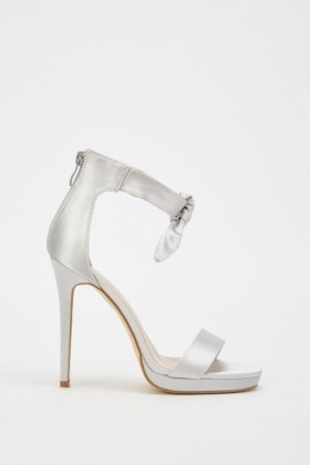 Sateen Ankle High Heeled Sandals