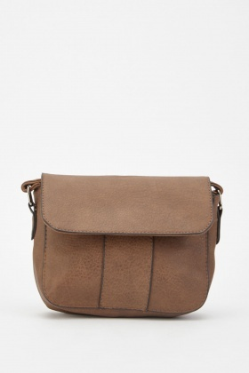 Textured Faux Leather Cross Body Bag